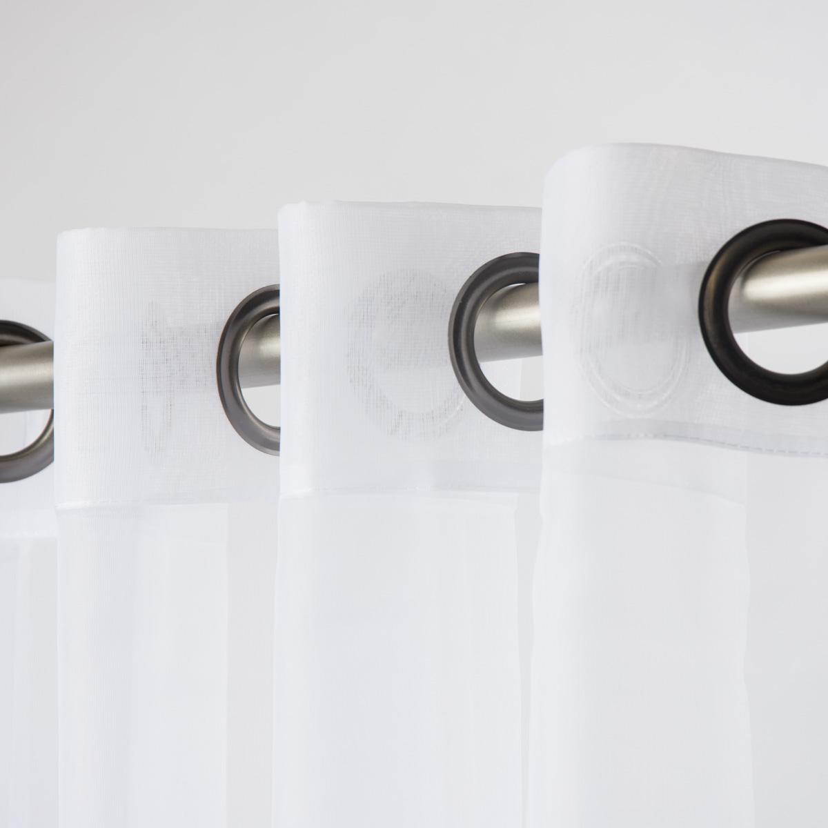 fertiggardine sengardine einfarbig voile creme 135x260cm fertiggardinen senschals. Black Bedroom Furniture Sets. Home Design Ideas
