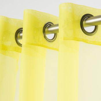 Fertiggardine Ösengardine einfarbig Voile lime 135x260cm – Bild 1