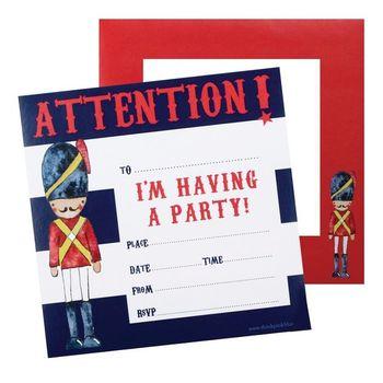 Karten Set Einladung PARTY 20 Stück 15x15c