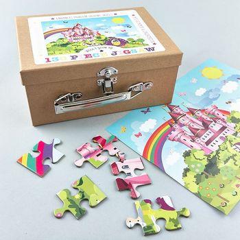 Puzzle im Koffer Prinzessin Schloss 130 Teile – Bild 1