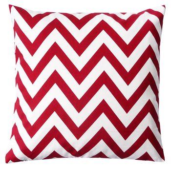 Schöner Leben Kissenhülle Chevron Zacken breit rot weiß 50x50cm
