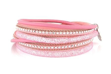 Lizas Armband Wickelarmband rosa Ø:6cm
