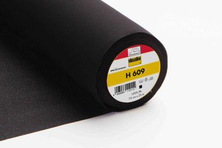 Vlieseline H 609 für elastische Oberstoffe schwarz 75cm – Bild 1