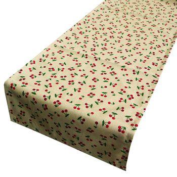 Schöner Leben Tischläufer Kirschen natur rot grün 40x160cm