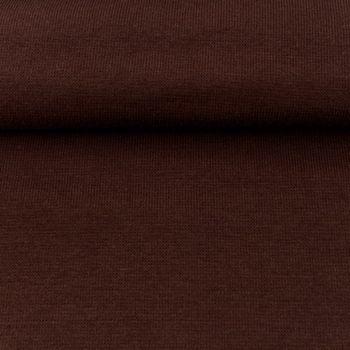 Kreativstoff Strickschlauch Bündchenstoff fein kaffee braun 30cm Breite