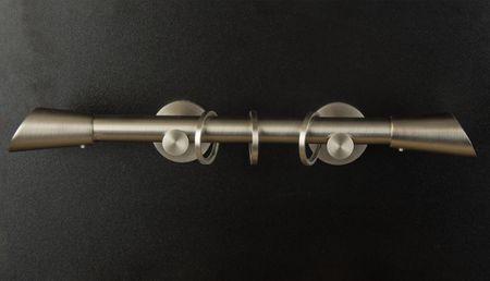 20mm Rohr Gardinenstange 120 cm Edelstahloptik – Bild 5