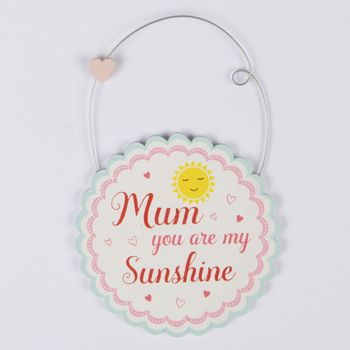 Anhänger Plaquette Mum you are my Sunshine 10x15cm