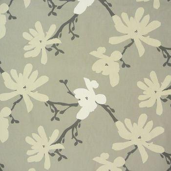 Clarke & Clarke Baumwollstoff Blumen Äste Tilda taupe grau creme – Bild 1