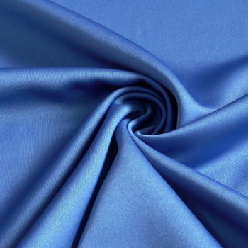 Royal Micro Satin Stoff Meterware royal blau
