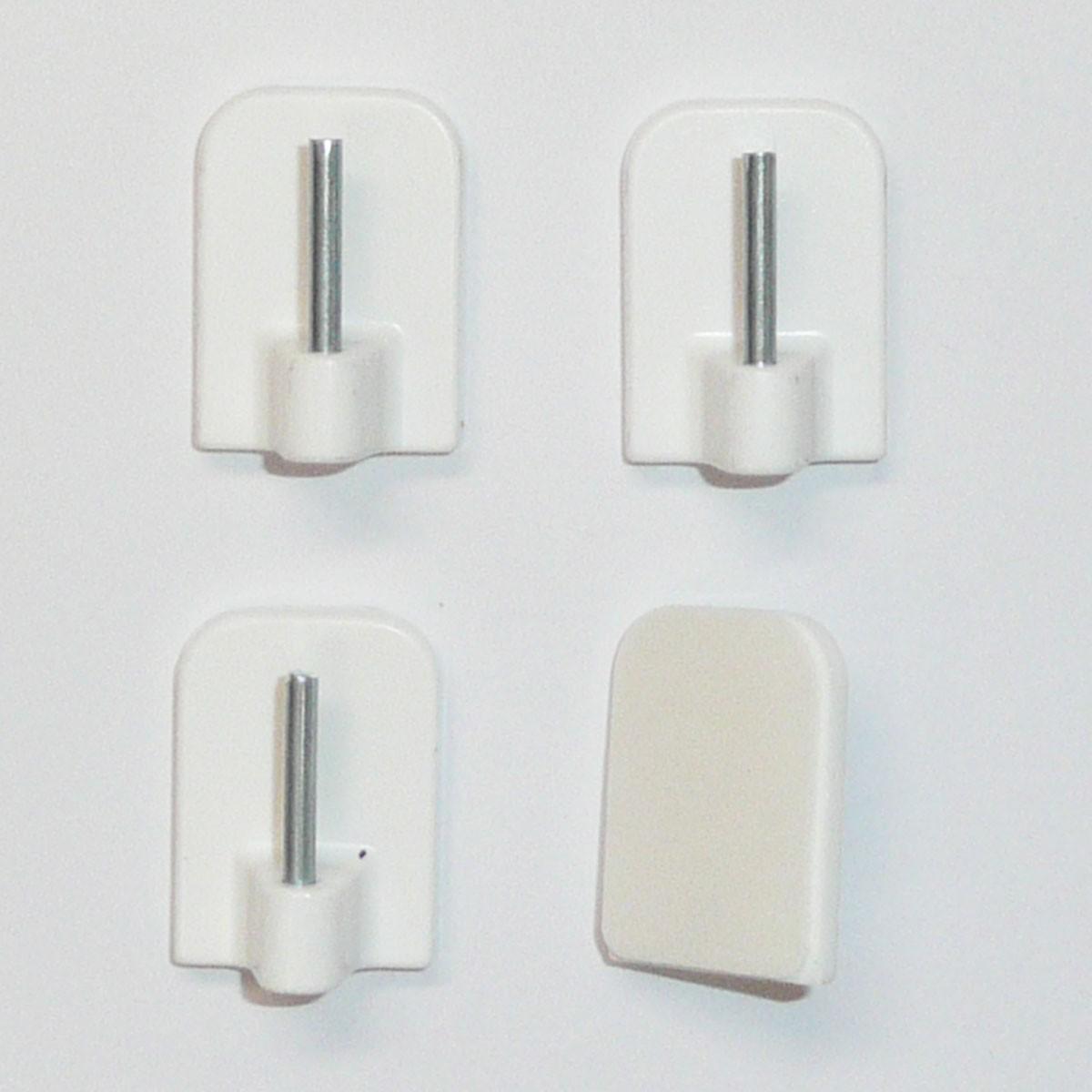 klebehaken selbstklebehaken f r vitragenstangen weiss 4er. Black Bedroom Furniture Sets. Home Design Ideas