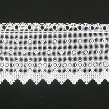 Borte Spitzenborte creme Verzierung Vierecke Meterware B:26cm