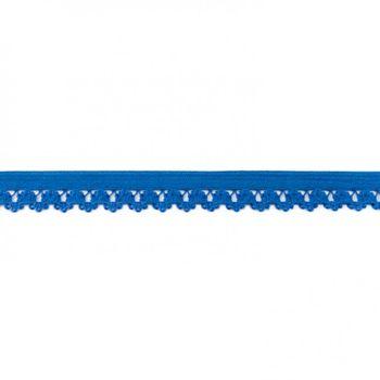 Gummiband mit Spitzenverzierung blau Breite: 1,5cm