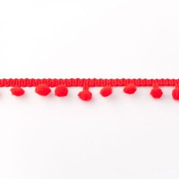 Bommelborte PomPom Borte Zierband rot Breite: 0,5cm