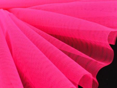 Kreativstoff Tüll Polyester neon pink 1,4m Breite