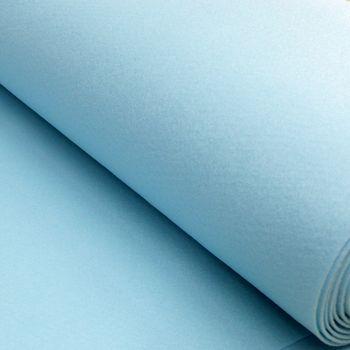 Kreativstoff Filz einfarbig hellblau 180cm Breite 2mm Stärke