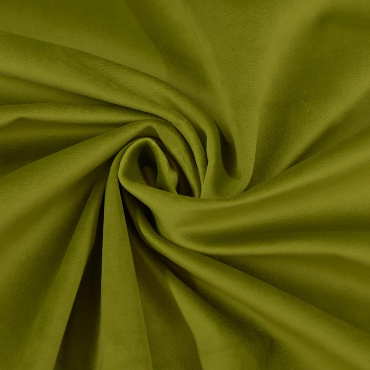 Möbelstoff Polsterstoff Bezugstoff Samtstoff Samt moos grün 1,40m breit