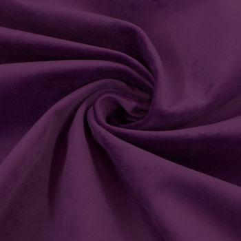Bezugsstoff Polsterstoff Samtstoff Samt beere lila dunkel – Bild 1