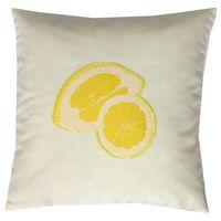 Schöner Leben Kissenhülle Zitrone gelb weiß 40x40cm