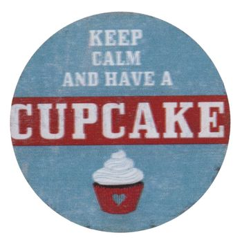 Clayre & Eef Magnet Keep Calm and have a Cupcake 8cm