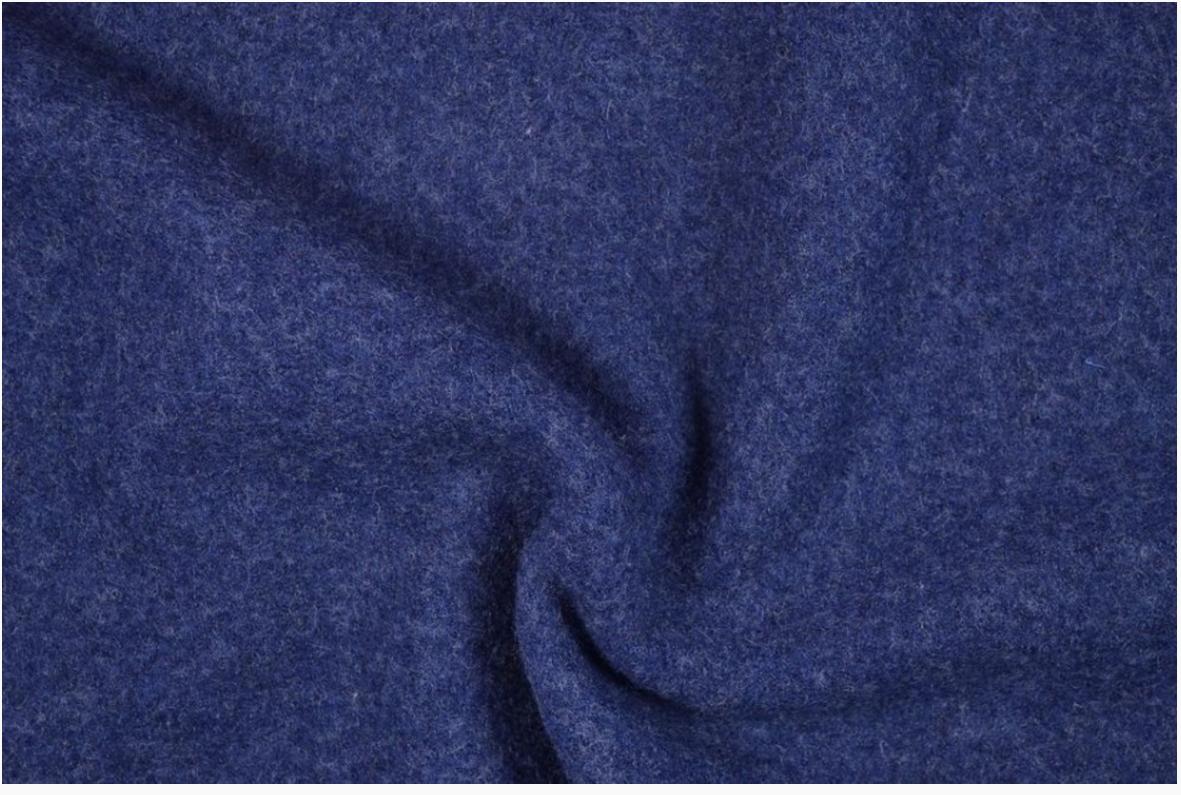 Mantelstoff Bekleidungsstoff Walkloden Wolle royalblau blau