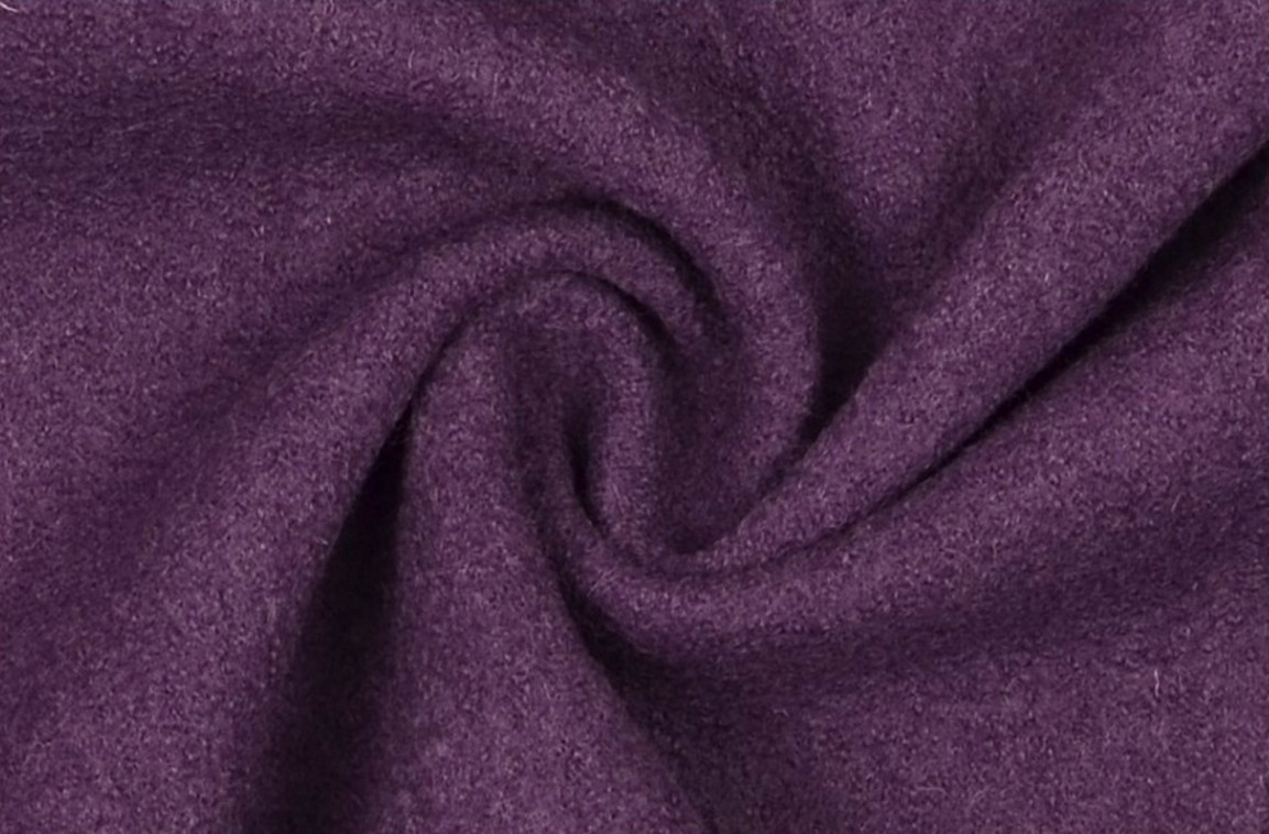 Mantelstoff Bekleidungsstoff Walkloden Wolle lila purple