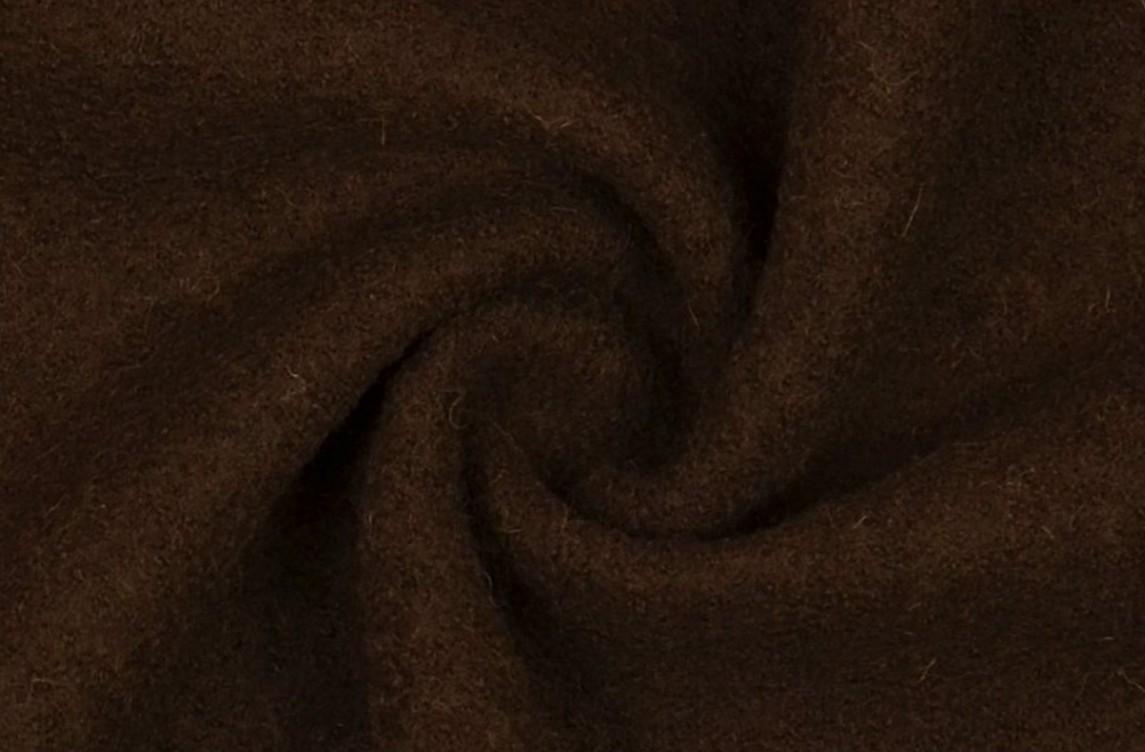 Mantelstoff Bekleidungsstoff Walkloden Wolle dunkelbraun