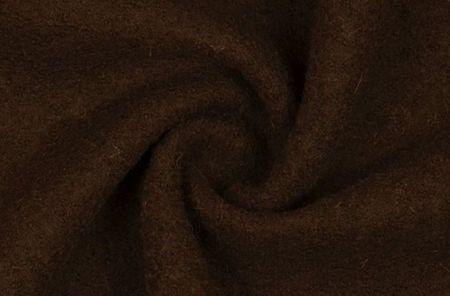 Bekleidungsstoff Walkloden Wolle dunkelbraun
