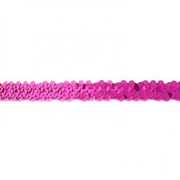 Gummi Pailletten pink Breite: 2cm