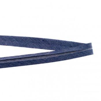 Jeans Schrägband dunkelblau Meterware Breite: 2cm