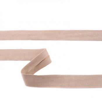 Schrägband Velourleder sand Meterware Breite: 2cm