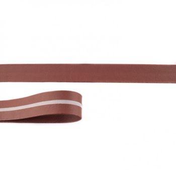 Schrägband Kunstleder rost braun Meterware Breite: 2cm