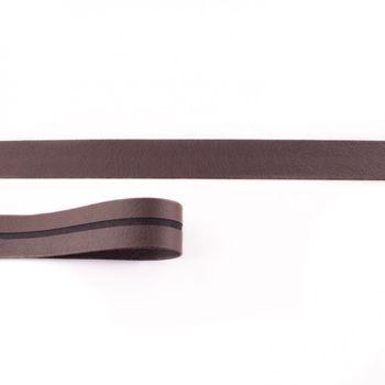 Schrägband Kunstleder braun Meterware Breite: 2cm