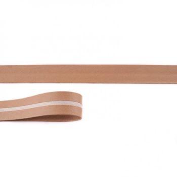 Schrägband Kunstleder hellbraun Meterware Breite: 2cm