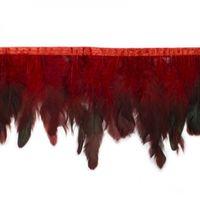 Band Federn rot 13cm Länge