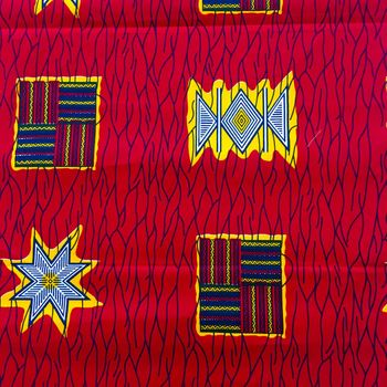 Afrikanischer Baumwollstoff Guaranteed Real Wax beidseitig bedruckt – Bild 1