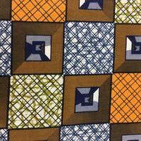 Afrikanischer Baumwollstoff Super Deluxe Wax Prints Original beidseitig bedruckt 001