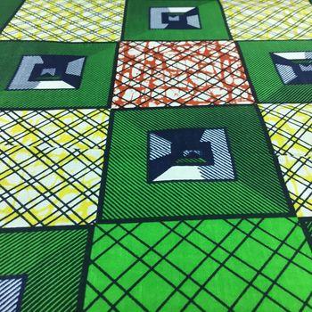 Afrikanischer Baumwollstoff Super Deluxe Wax Prints Original beidseitig bedruckt – Bild 3