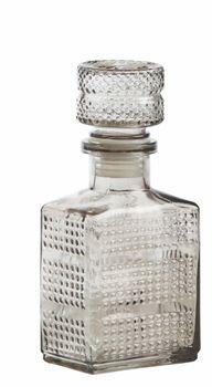 Dekoflasche Flasche Glas grau 7,5x16,5cm – Bild 1