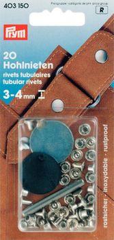 Prym Hohlnieten Ø7,5mm silberfarbig 20 Stück