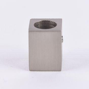 Serie London Deckenträger für eckige Profilstange 18x18mm edelstahl-optik – Bild 1