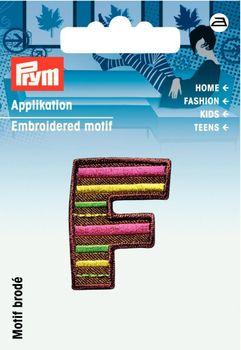 Prym Applikation Buchstabe F ca. 2,5x3cm