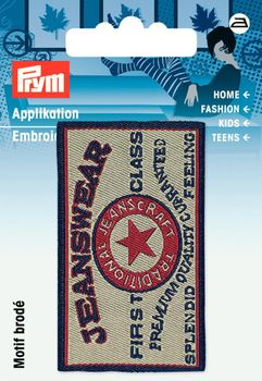 Prym Applikation Jeanswear 6x3,5cm