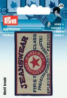 Prym Applikation Jeanswear 6x3,5cm 001