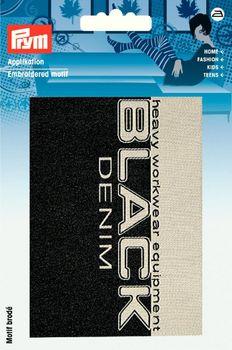 Prym Applikation BLACK DENIM ca. 8x11cm