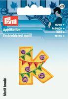 Prym Applikation Buchstabe K ca. 2,5x3cm 001