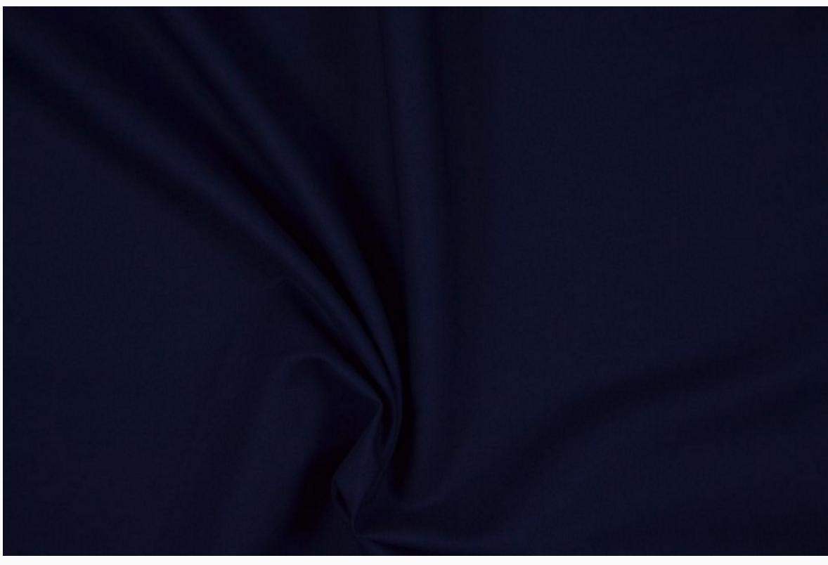 Bekleidungsstoff Baumwoll Köper dunkelblau 1,4m Breite