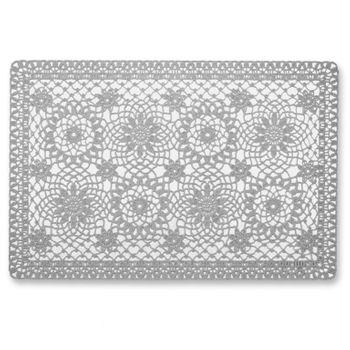 Platzset Häkel Floral 30x45cm grau