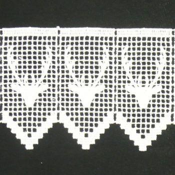 Borte Spitzenborte Hirsch weiß 11cm – Bild 1