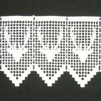 Borte Spitzenborte Hirsch weiß 11cm 001