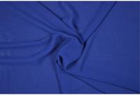 Chiffon Meterware royalblau blau 001